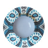 Les Ottomans - Ikat White and Blue