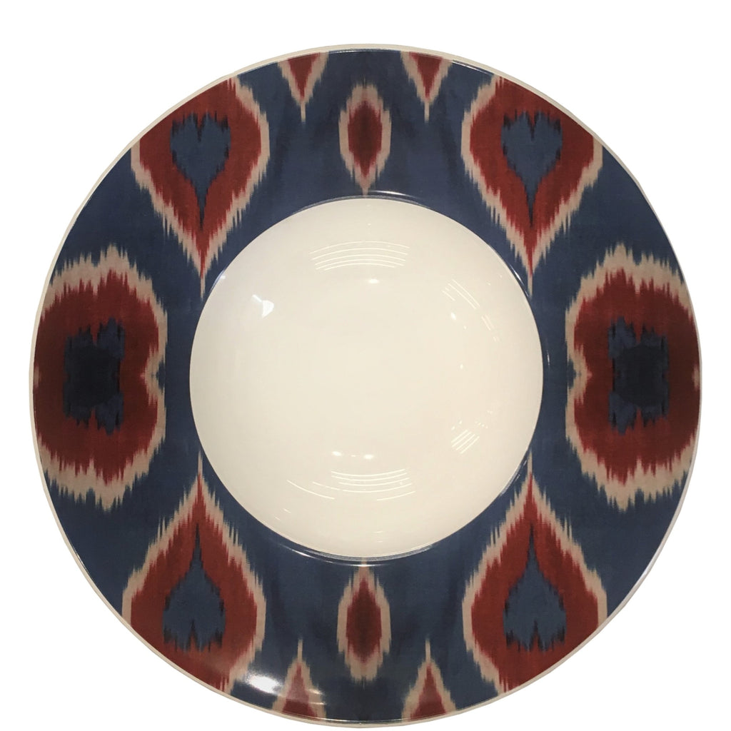 Les Ottomans - Ikat Red and Blue