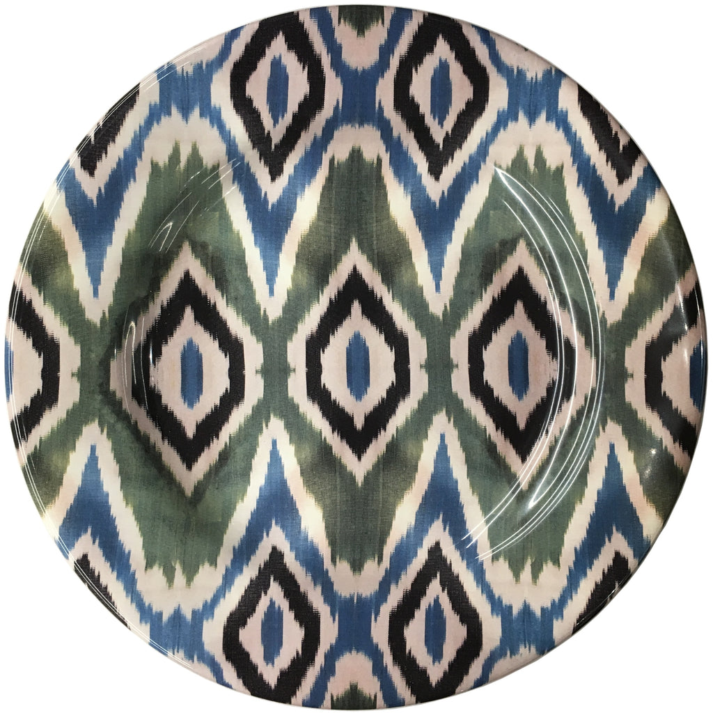 Les Ottomans - Ikat Blue and Green