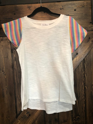 Flutter Rainbow sleeve top