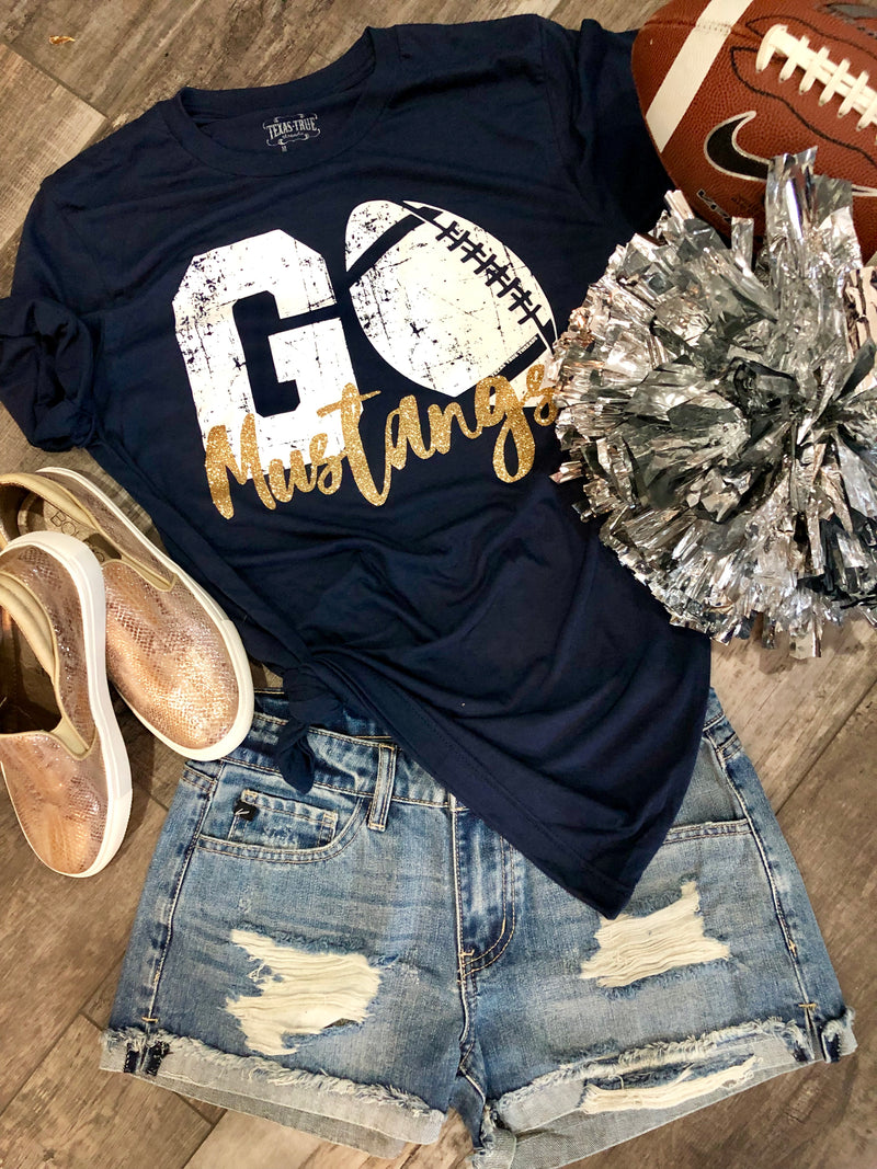 CyRanch MUSTANGS custom football tee