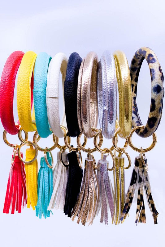 Bangle tassel keychain