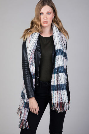 Multicolor oblong scarf