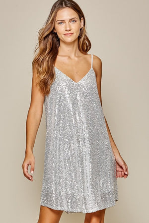Andre Silver Sequin dress