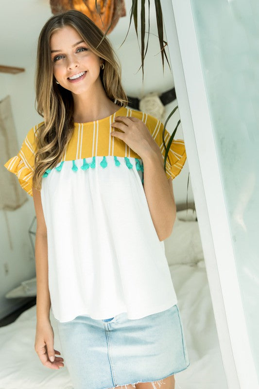 Summer tassel top