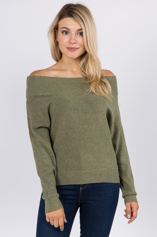 Dreamers off the shoulder pullover