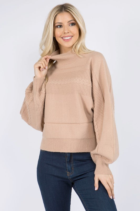 Dreamers camel turtleneck