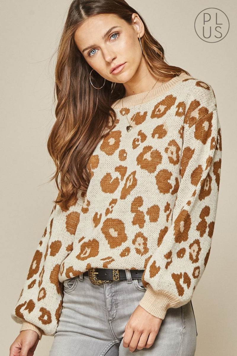 Andre taupe animal sweater