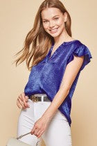 Chic Flutter sleeve top
