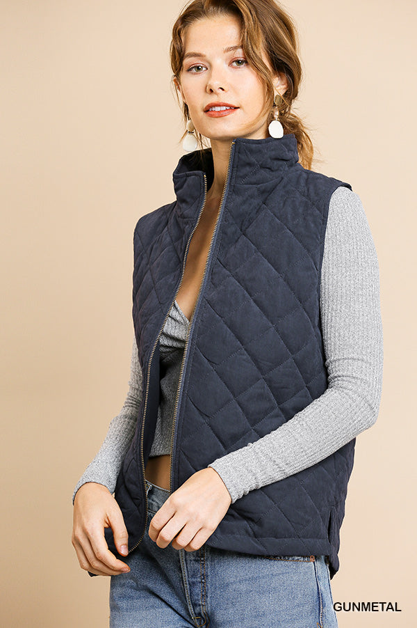 Umgee quilted vest