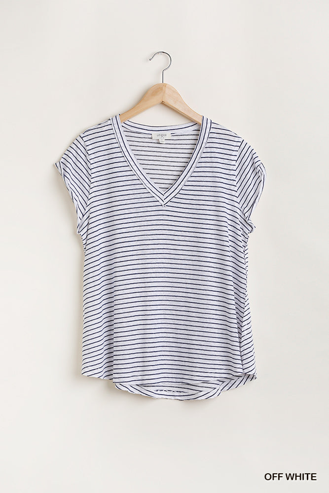 Flowy striped vneck