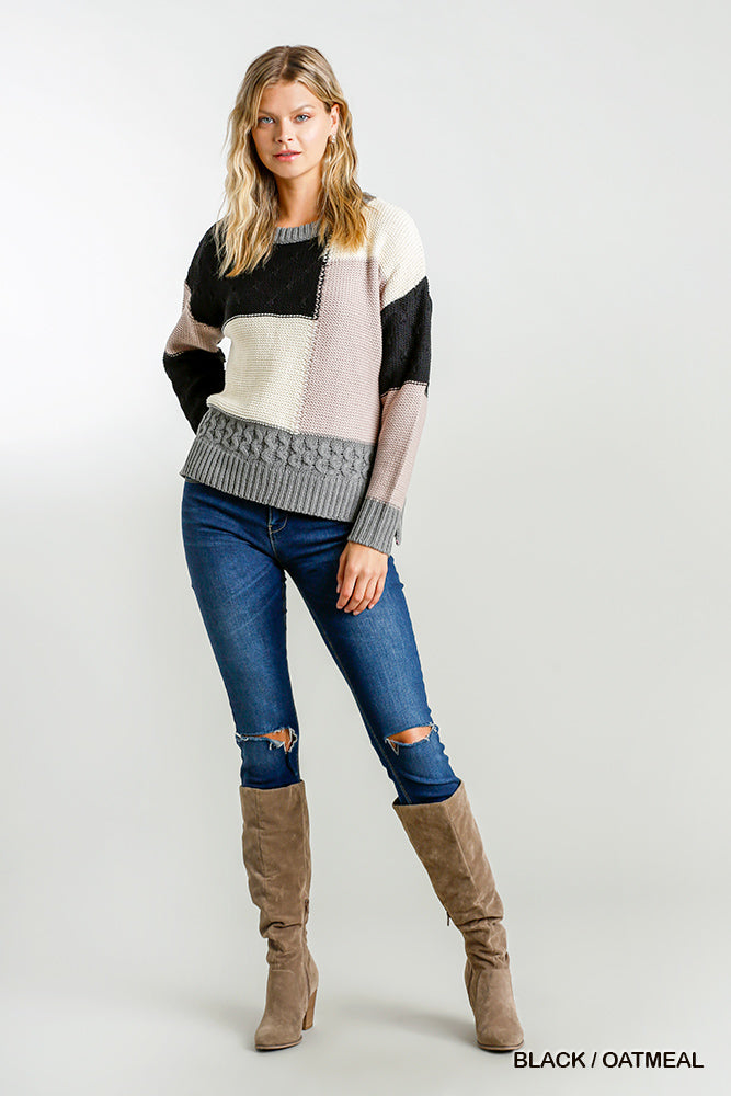Colorblock umgee sweater