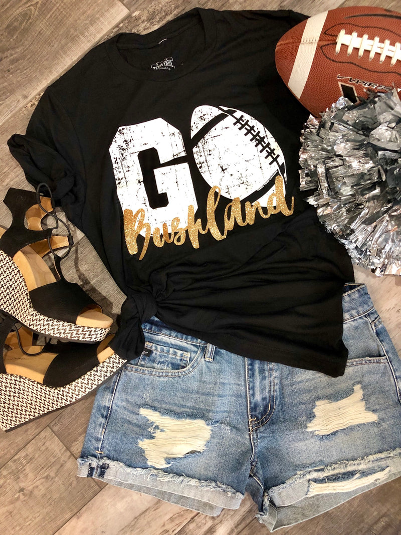 BUSHLAND custom football tee