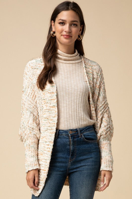 Shrug Bishop sleeve cardi