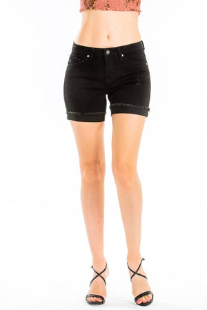 Kancan distressed black denim