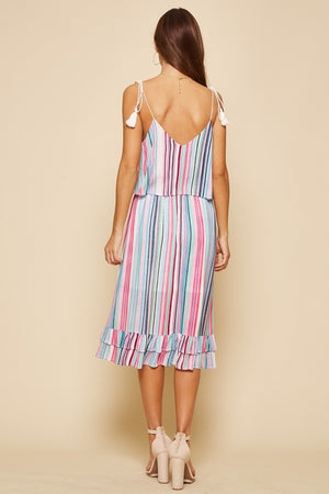 Stripe vaca dress