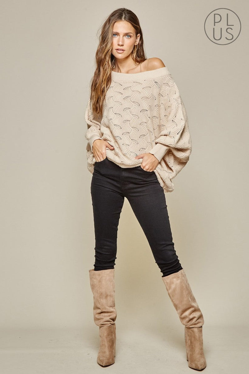 Andre taupe slouch sweater
