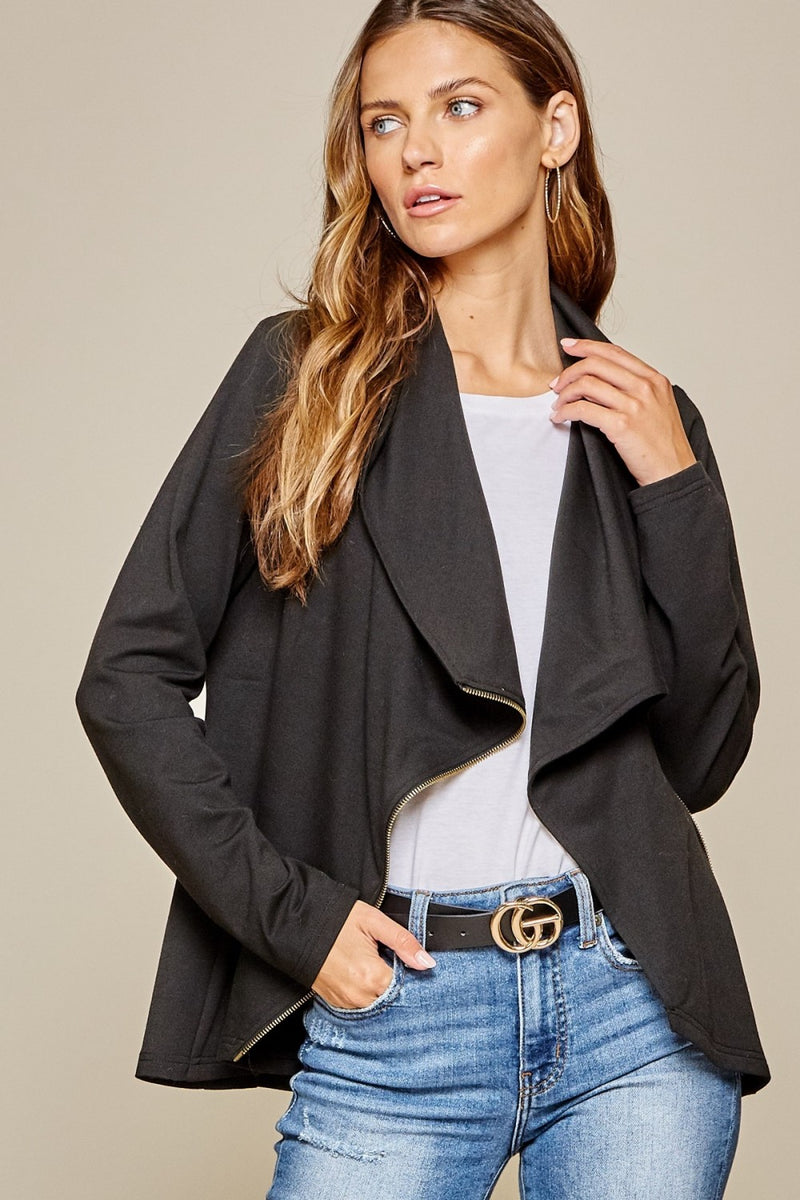Asymmetrical Jacket - Black