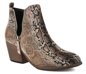 Tombstone brown snake bootie