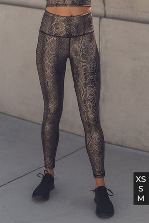 Copper snake highwaist leggings