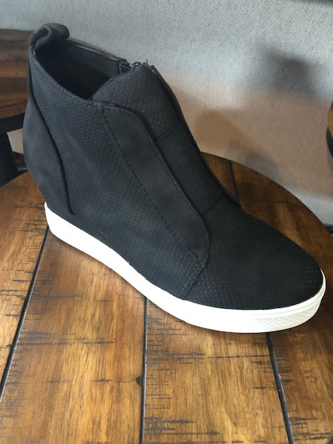 Black high top sneaker