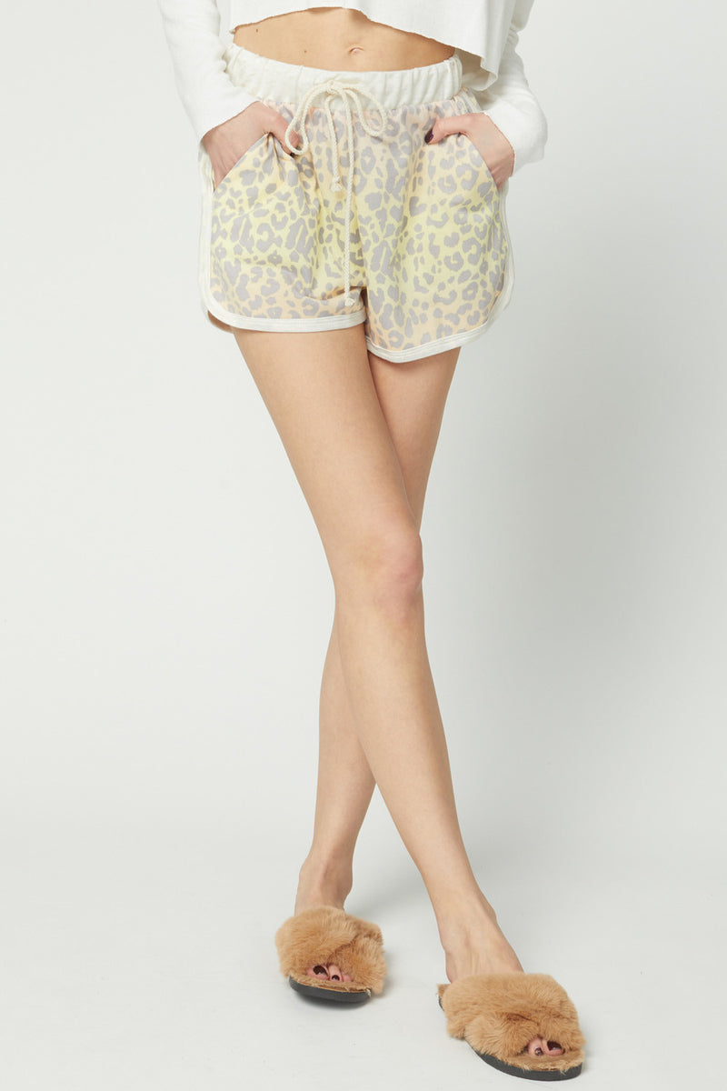 Leopard ombre lounge shorts
