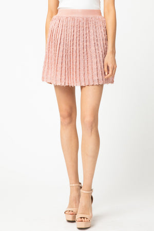 Textured pleated skirt