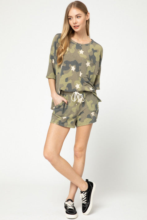 Camo sleep TOP