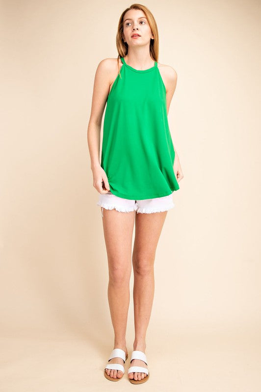 Kelly green halter tank
