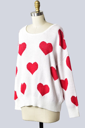 Heart sweater with back criss cross