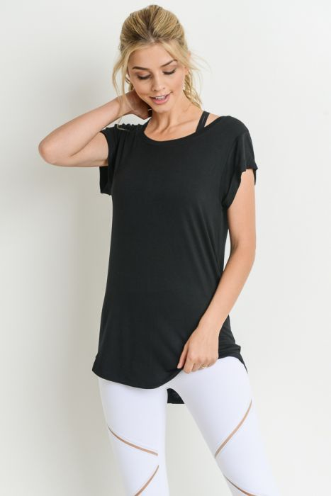 Essential round neck cap sleeve Tee