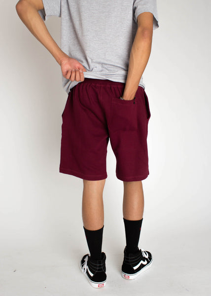 Understated Shorts - Burgundy