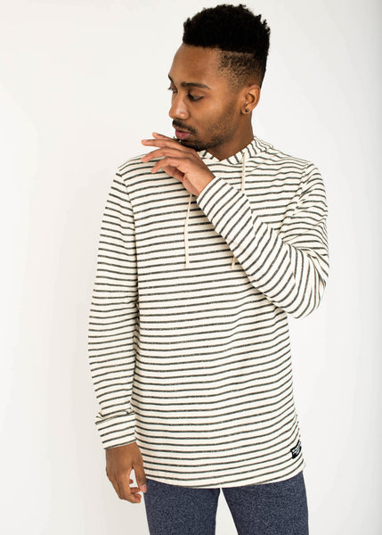 Striped French Terry Hoodie
