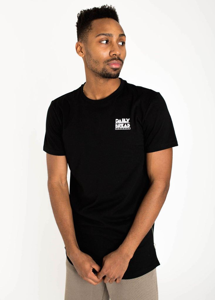 Black Side-Zip Tee