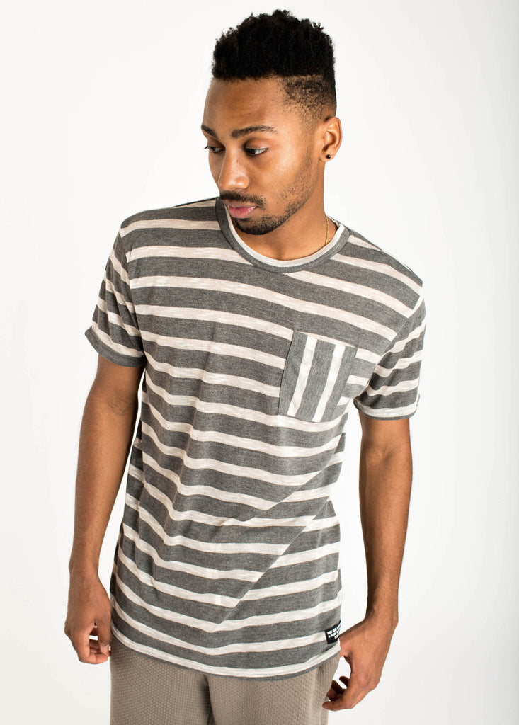Hacci Stripe Pocket Tee
