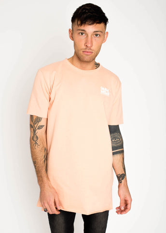 Coral French Terry Tee