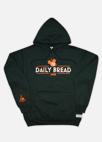 5450 MOUSE HOODIE - DARK GREEN/ORANGE