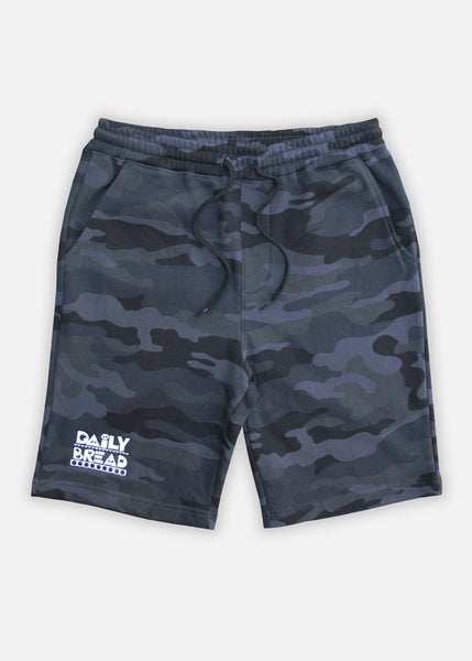 MOOSH SWEAT SHORTS - BLACK CAMO