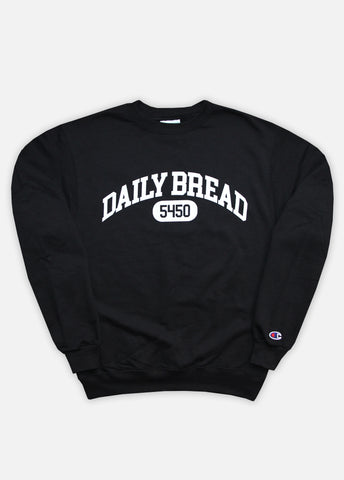 5450 COLLEGIATE CREWNECK - BLACK