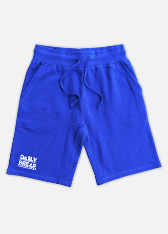 MOOSH SWEAT SHORTS - ROYAL/WHITE