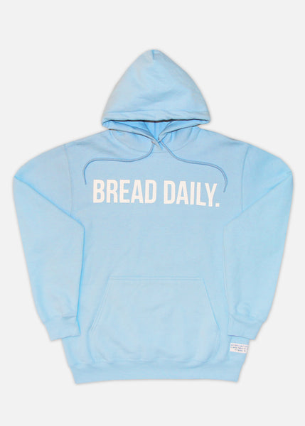 BREAD DAILY HOODIE - LIGHT BLUE/WHITE