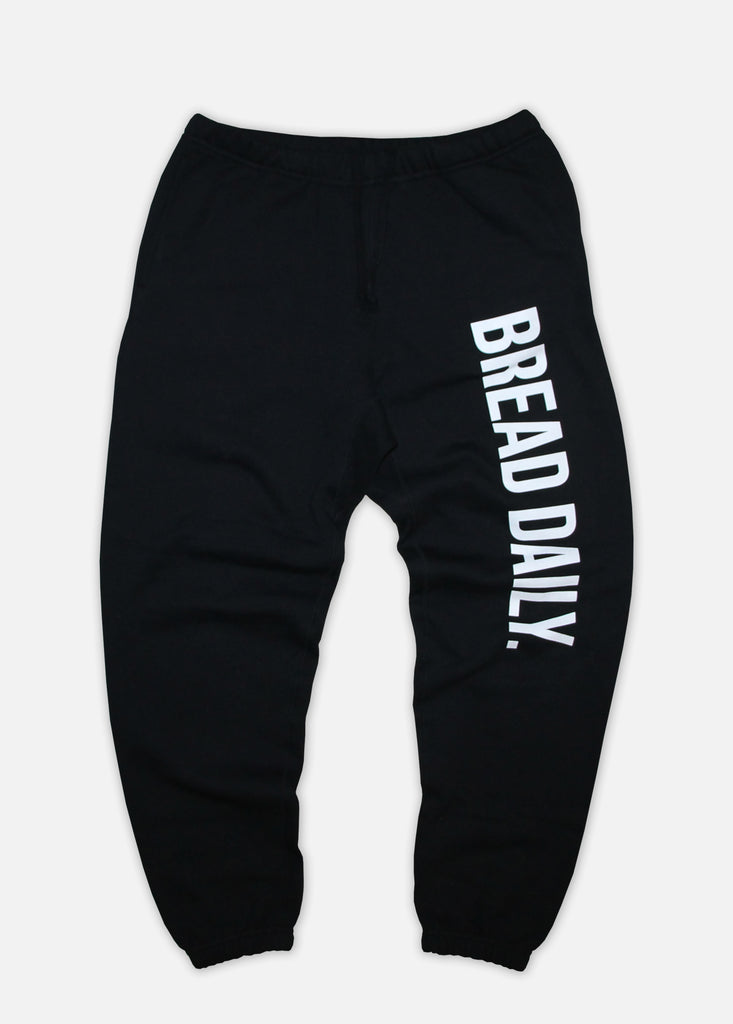 BREAD DAILY SWEATPANTS - BLACK