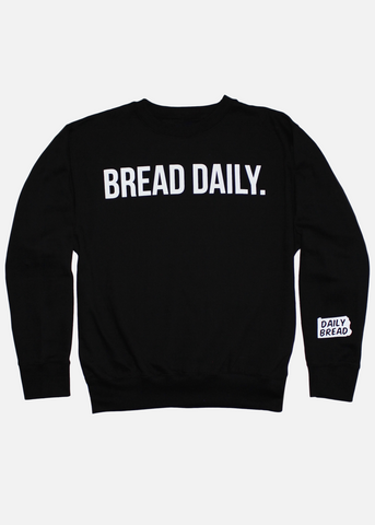 Bread Daily Crewneck - Black