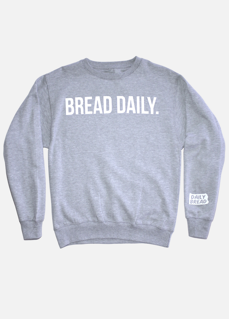 Bread Daily Crewneck - Heather Grey
