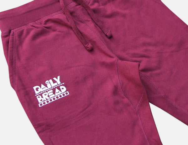 Moosh Joggers - Burgundy/White