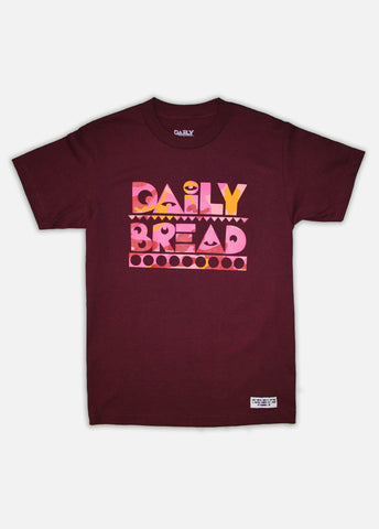 BURGUNDY CAMO MOOSH TEE