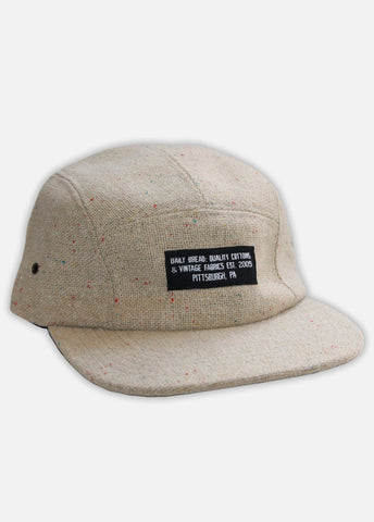 TWEED QUALITY COTTONS 5-PANEL - CREAM