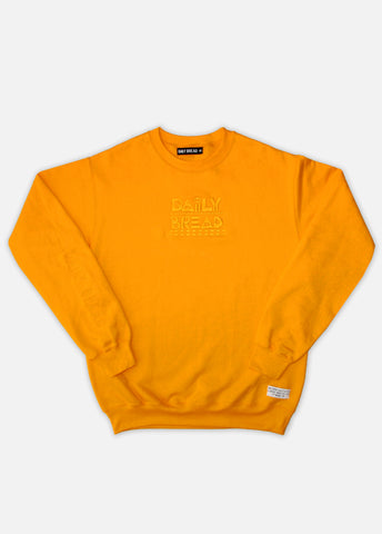 TONAL EMBROIDERED MOOSH CREWNECKS - GOLD