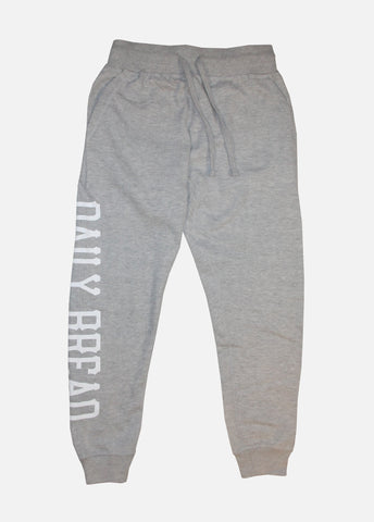 Stacked Joggers - Heather Grey/White