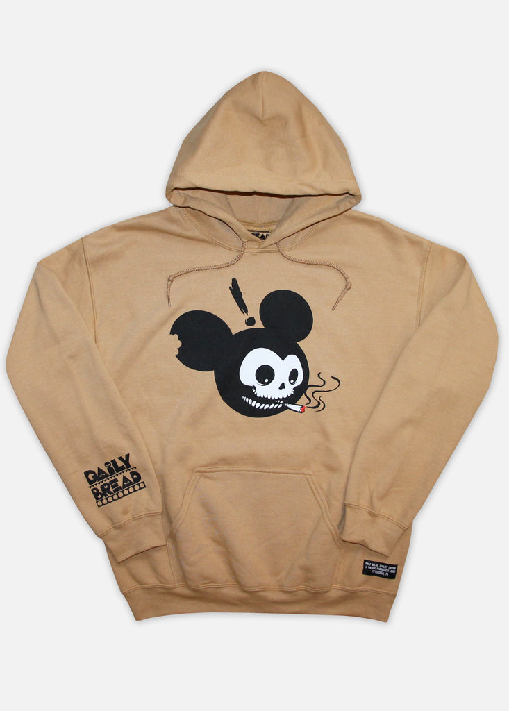 MOUSE HEAD HOODIE - OLD GOLD